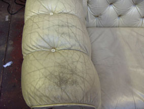 Cream Chesterfield - before