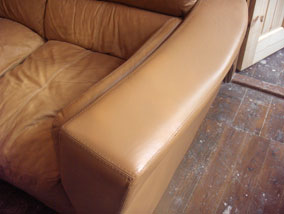 Brown sofa - after