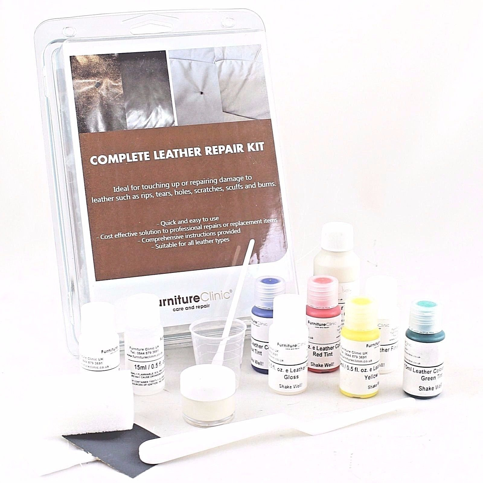 Furniture Clinic Custom Colour Standard Complete Leather Repair Kit