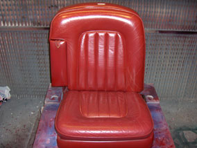 Rolls Royce Red Seat before colour change