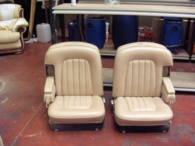 Cream leather rolls royce seats