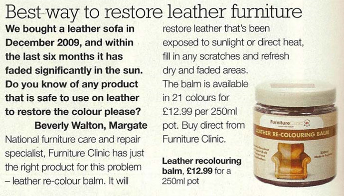 Leather Re-Colouring Balm Recommended by Real Homes