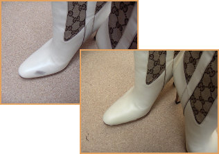shoes before after