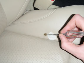 Leather Car Seat Burn Hole Repair 2