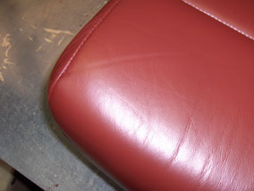 Colored Leather Seat Close Up