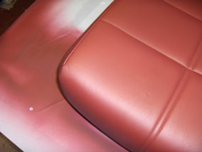 Finished Leather Seat Close Up