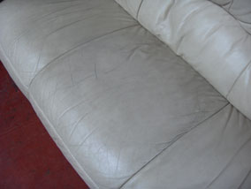 Cream Sofa - Before