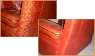 Leather Couch Before After