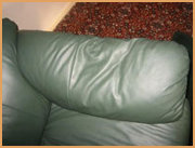Leather Couch Before