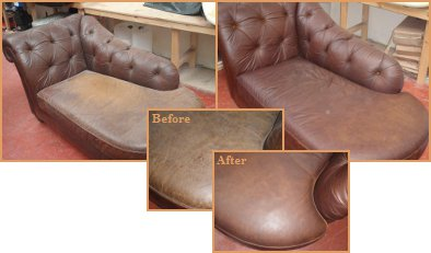 Leather Dye Before & After