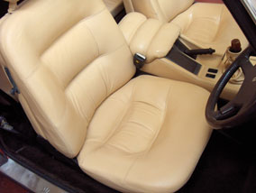 Fully restored leather car interior