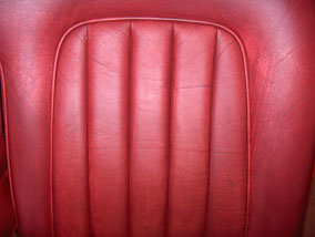 Prepped leather car seat