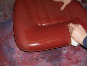 Alcohol Cleaning the leather seat